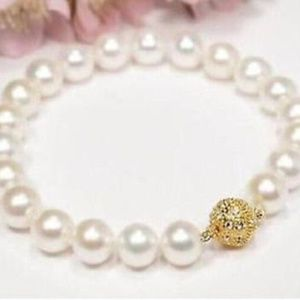 Pearl Acrylic W omen Bracelet With Gold Ball Clasp